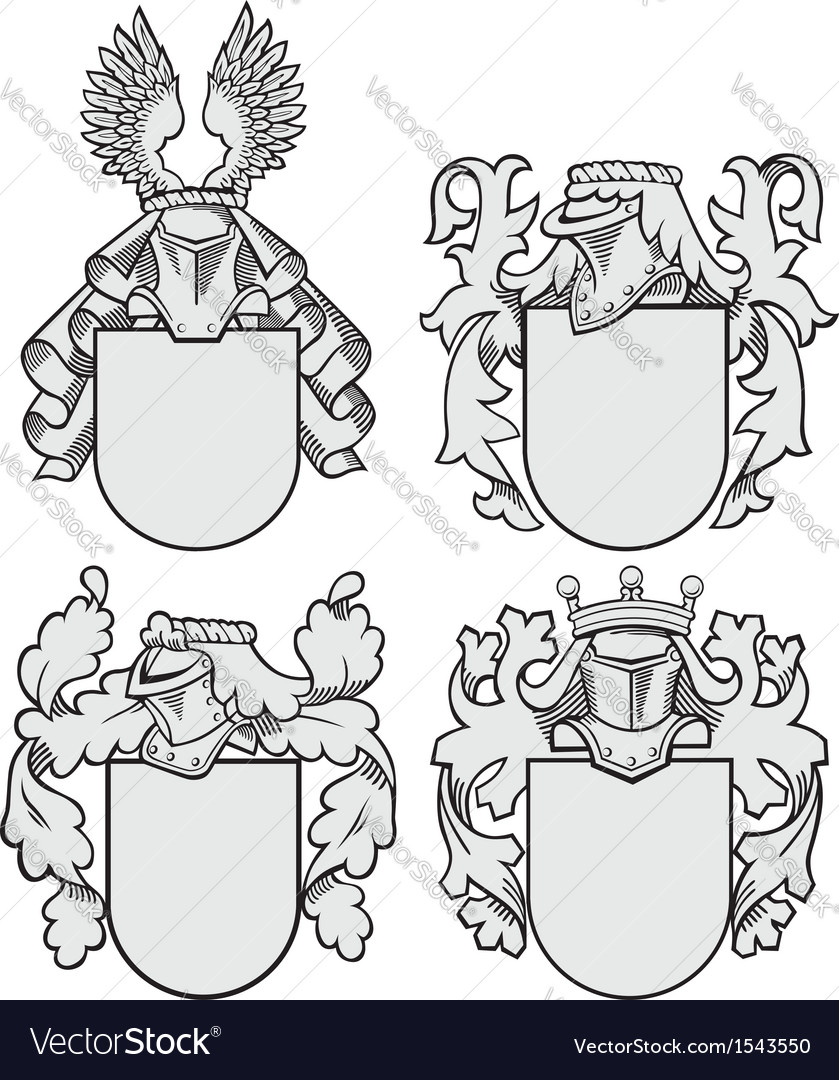 Set of aristocratic emblems no9 vector | Price: 1 Credit (USD $1)