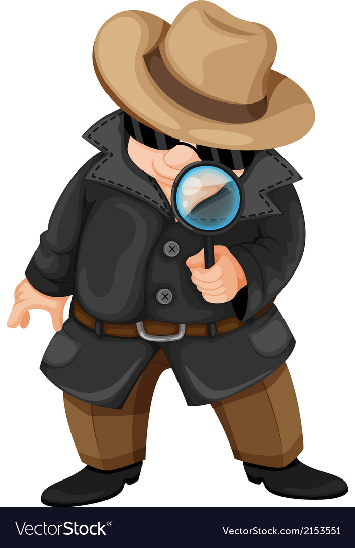 A fat detective vector | Price: 1 Credit (USD $1)