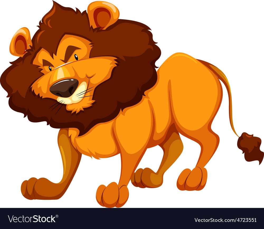 A lion vector | Price: 3 Credit (USD $3)