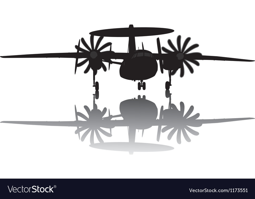Awacs aircraft silhouette vector | Price: 1 Credit (USD $1)