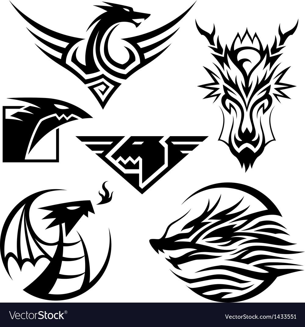 Dragon symbols vector | Price: 1 Credit (USD $1)
