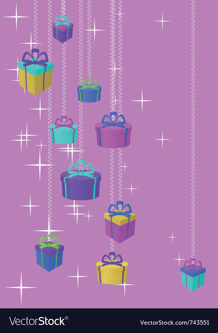 Gifts boxes and stars vector | Price: 1 Credit (USD $1)