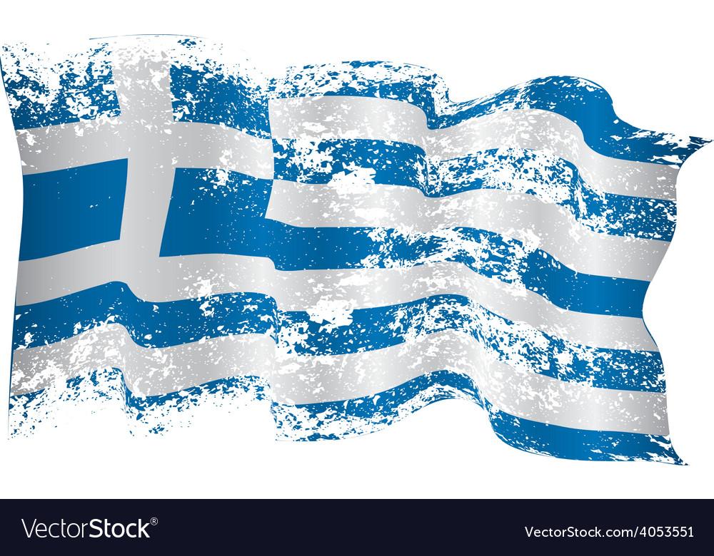 Greece flag grunge vector | Price: 1 Credit (USD $1)