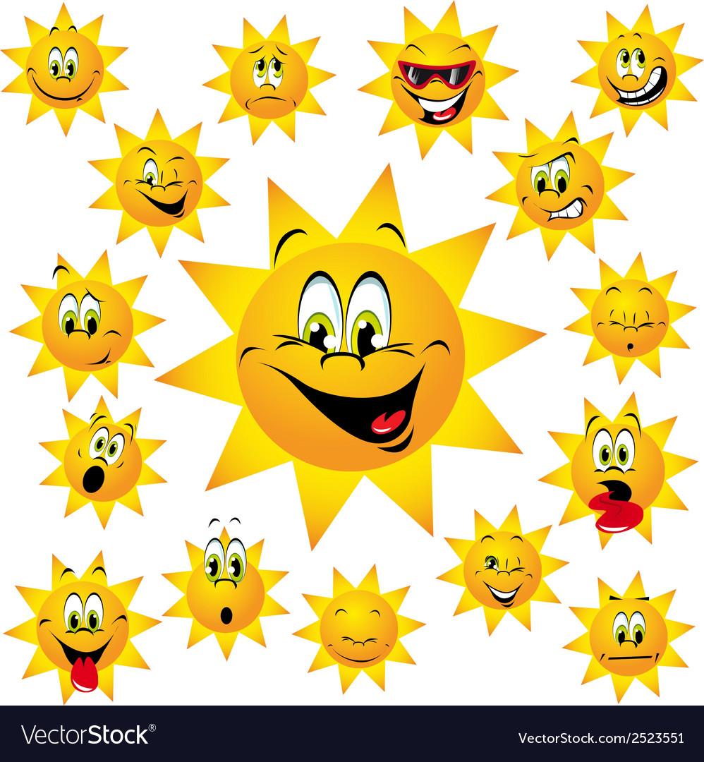 Happy sun vector | Price: 1 Credit (USD $1)