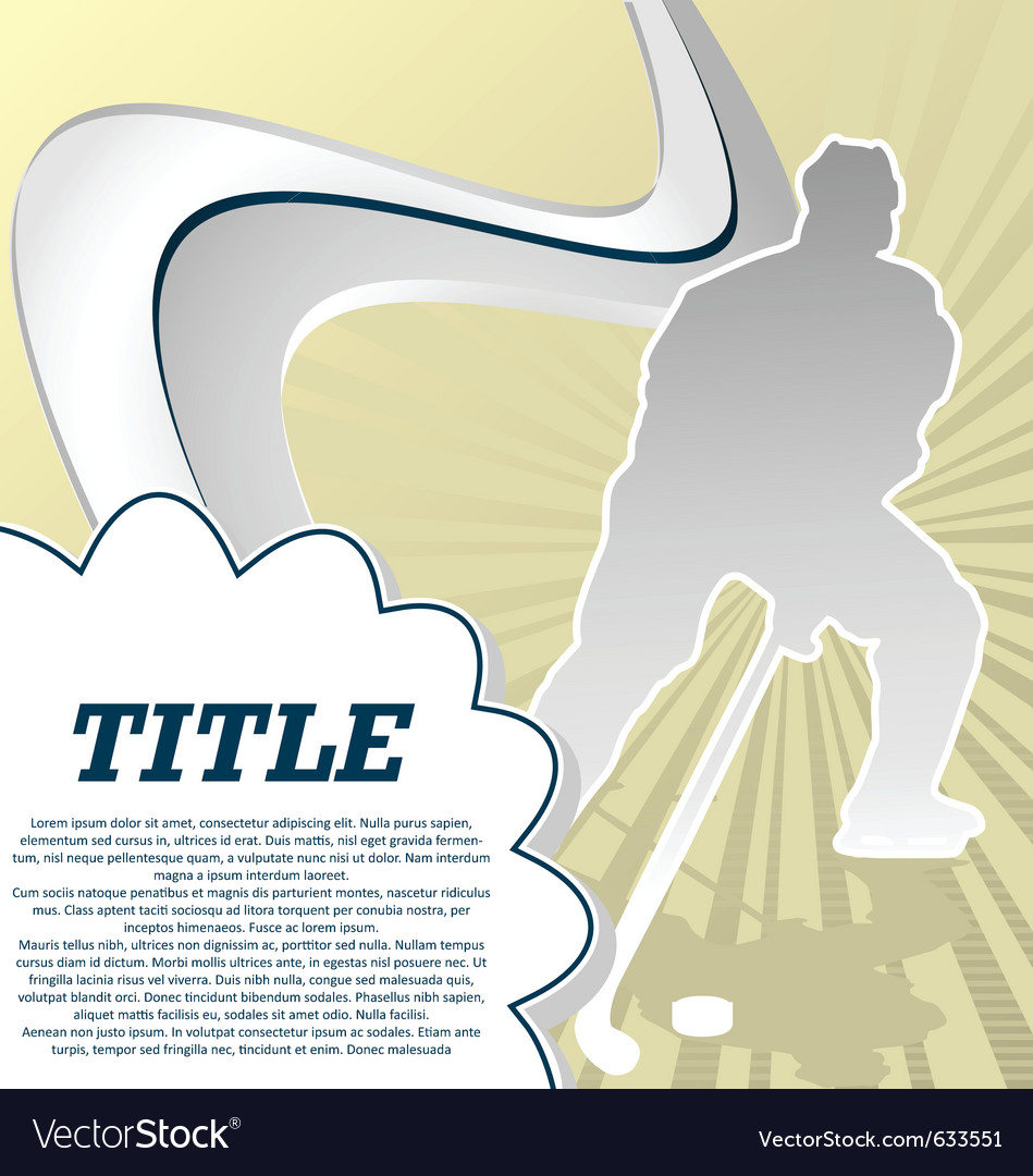 Hockey vector | Price: 1 Credit (USD $1)