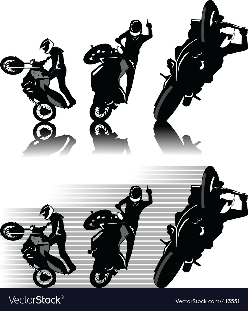 Motorbike freestyle vector | Price: 1 Credit (USD $1)