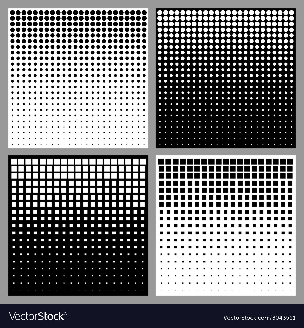 Set of abstract halftone backgrounds vector | Price: 1 Credit (USD $1)