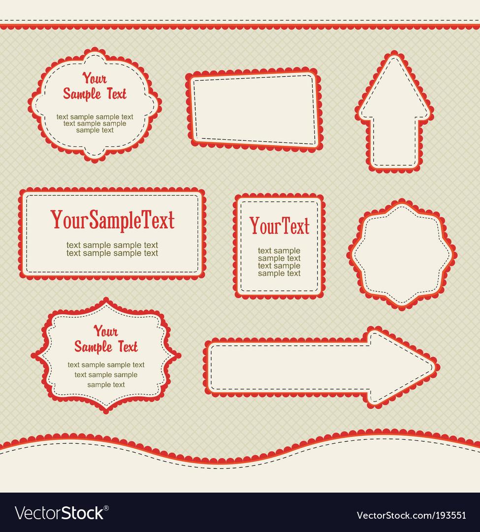 Set of design elements vector | Price: 1 Credit (USD $1)