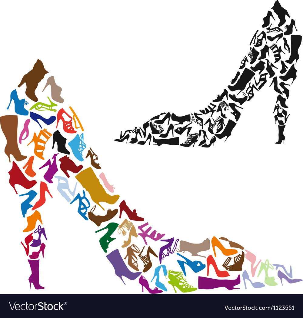 Shoe silhouettes vector | Price: 1 Credit (USD $1)
