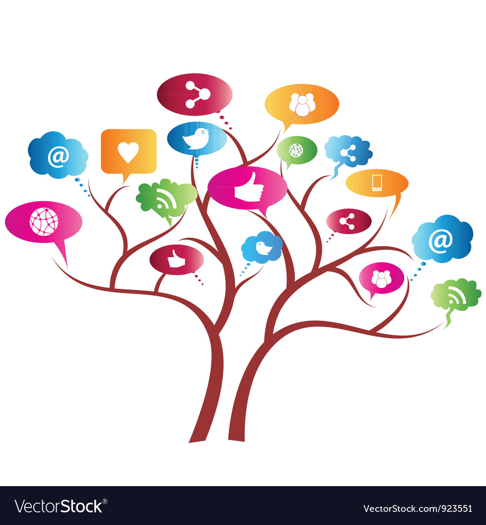 Social network tree vector | Price: 1 Credit (USD $1)