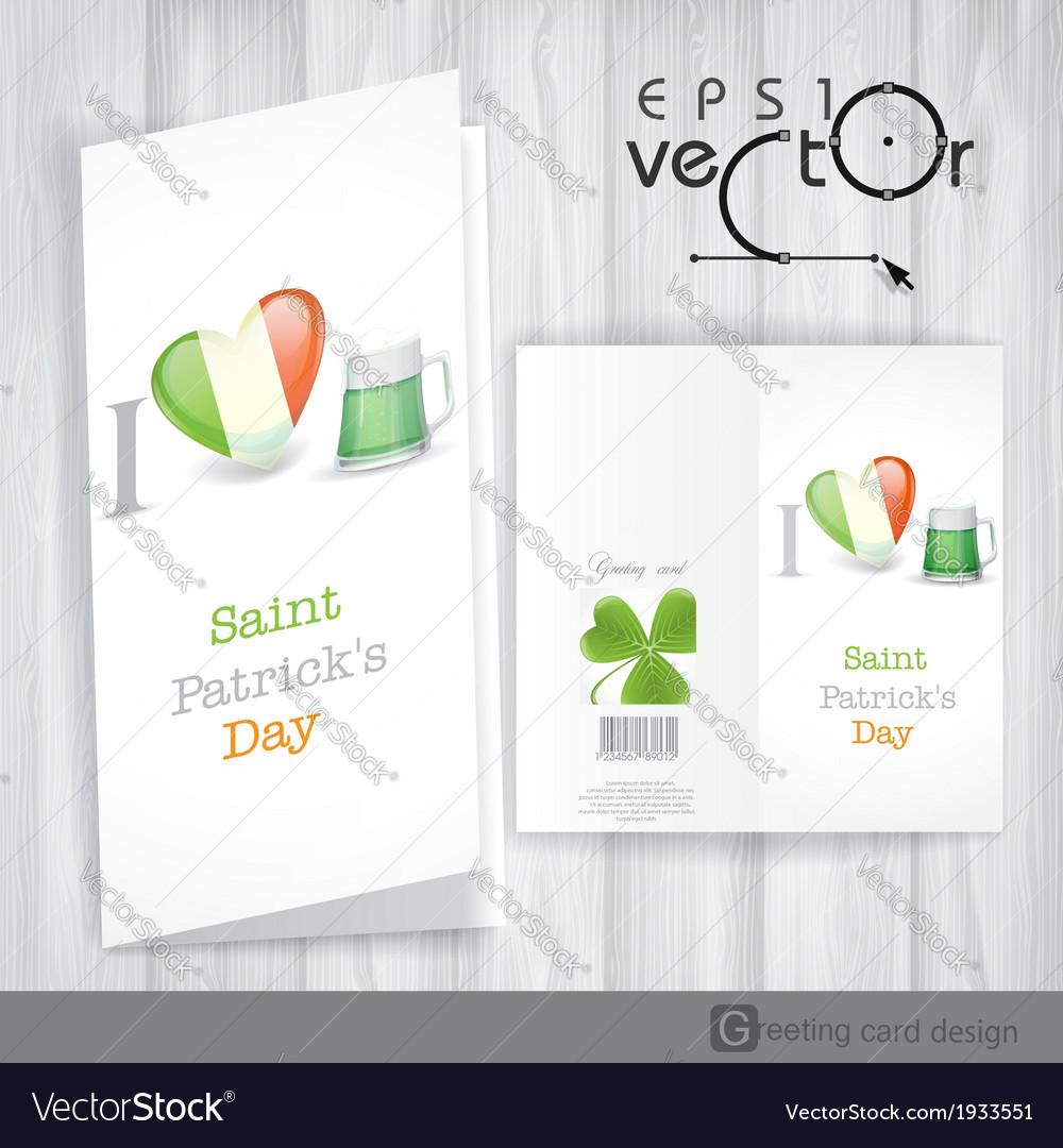 St patricks day i love beer vector | Price: 1 Credit (USD $1)