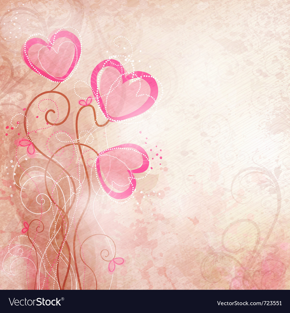 Valentines heart flower vector | Price: 1 Credit (USD $1)