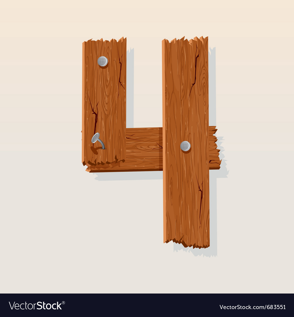 Wooden type 4 vector | Price: 1 Credit (USD $1)