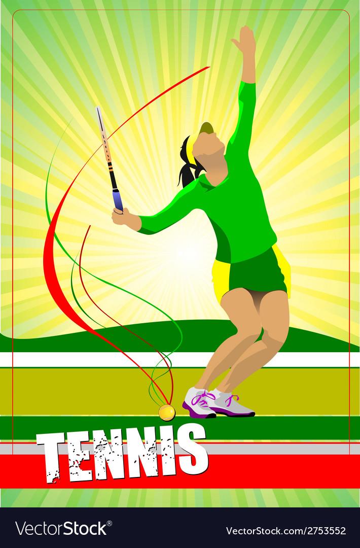 Al 0724 woman tennis 02 vector | Price: 1 Credit (USD $1)