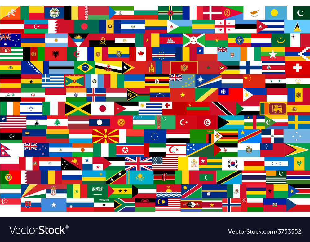 All flags of all countries in one vector | Price: 1 Credit (USD $1)
