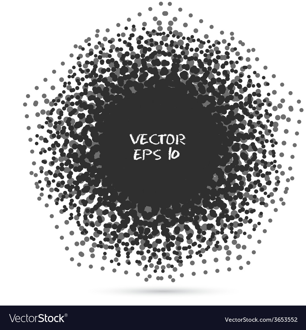 Black halftone design element vector | Price: 1 Credit (USD $1)