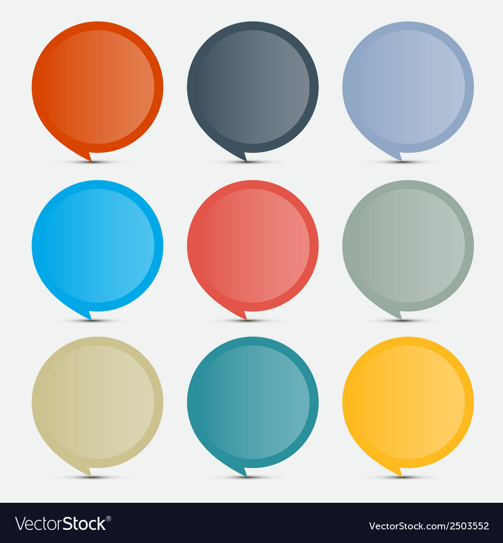 Colorful empty circle stickers - labels set on vector | Price: 1 Credit (USD $1)