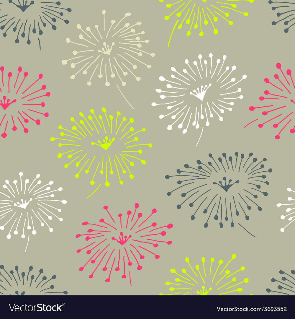 Decorative stylish spring seamless floral pattern vector | Price: 1 Credit (USD $1)