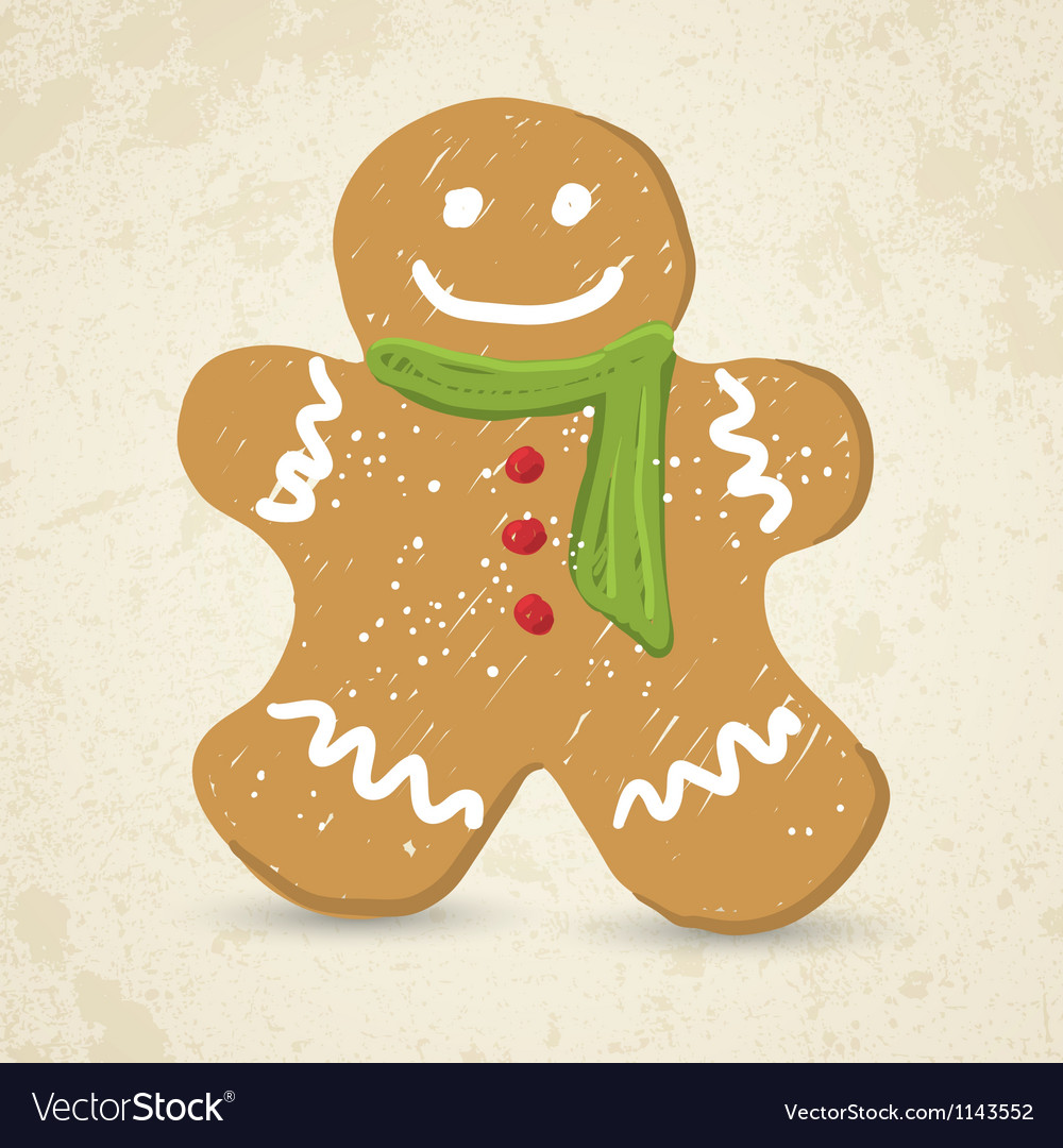 Doodle gingerbread man vector | Price: 1 Credit (USD $1)