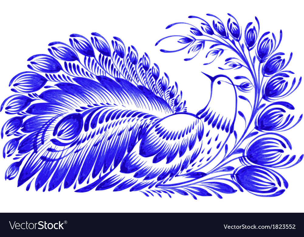 Floral decorative ornament peacock vector | Price: 1 Credit (USD $1)