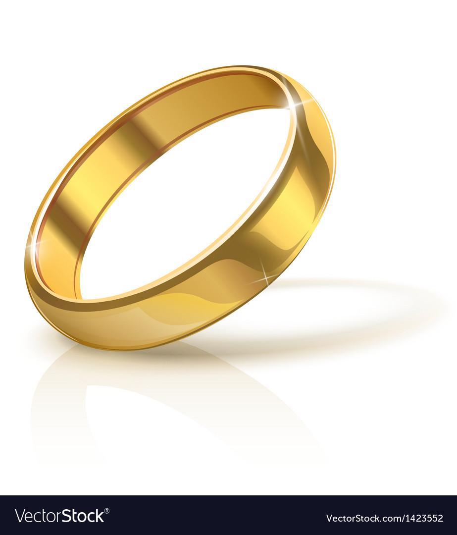 Golden wedding ring vector | Price: 1 Credit (USD $1)