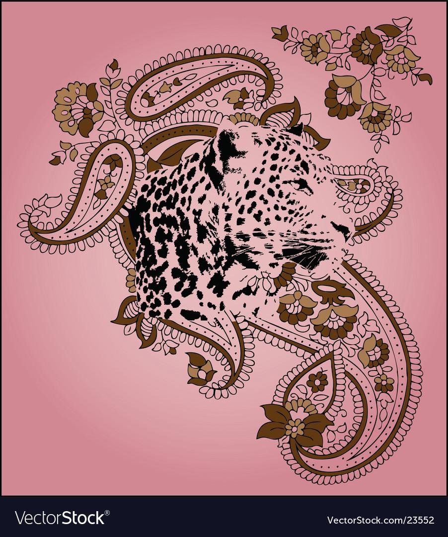 Leopard design vector