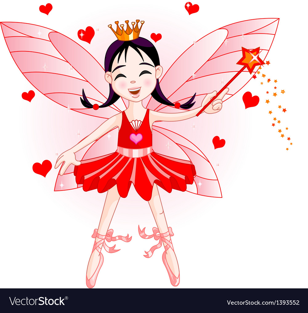 Red fairy vector | Price: 3 Credit (USD $3)