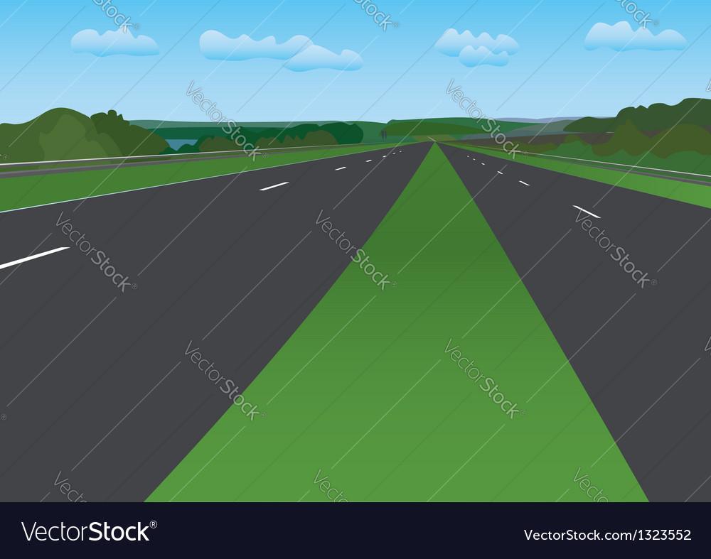 Road under blue sky - landscape vector | Price: 1 Credit (USD $1)