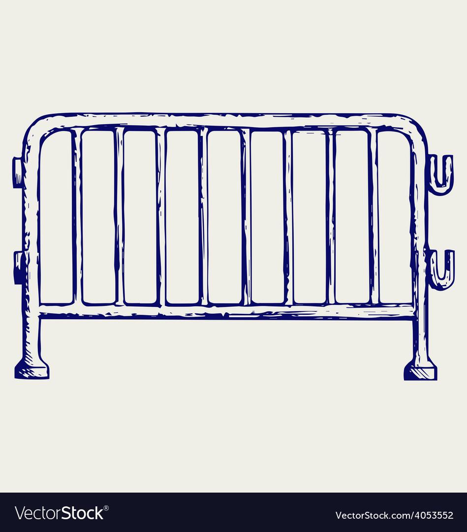 Steel barricades vector | Price: 1 Credit (USD $1)