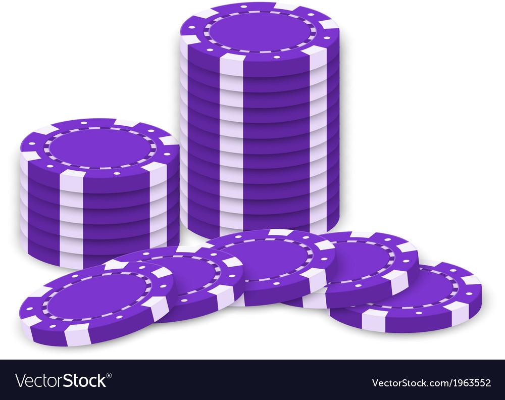 Violet poker chips vector   Price: 1 Credit (USD $1)