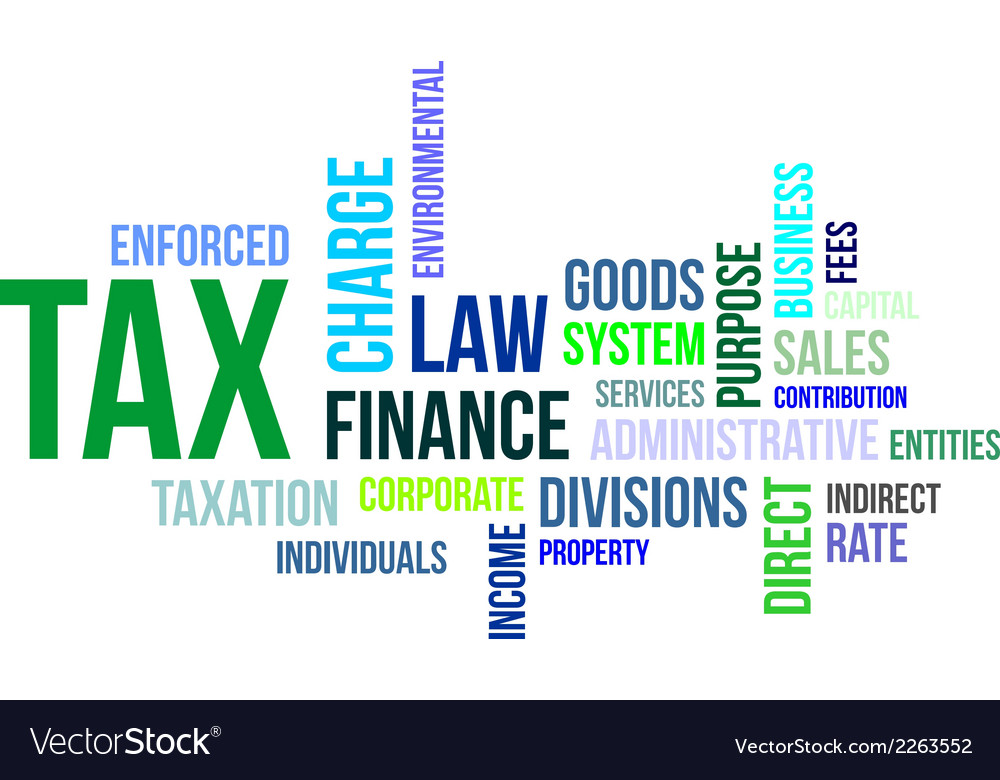 Word cloud tax vector | Price: 1 Credit (USD $1)