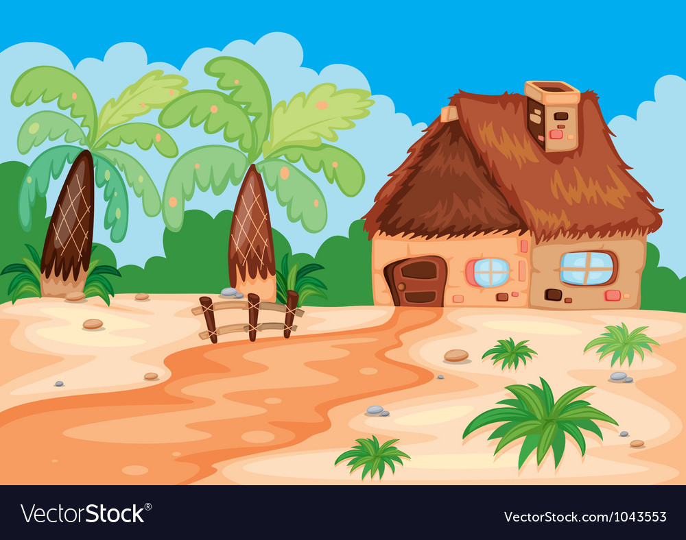 A hut in nature vector | Price: 3 Credit (USD $3)