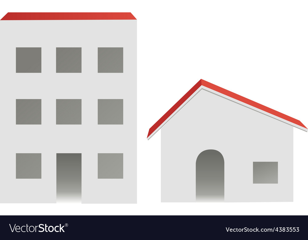 City and village buildings vector | Price: 1 Credit (USD $1)