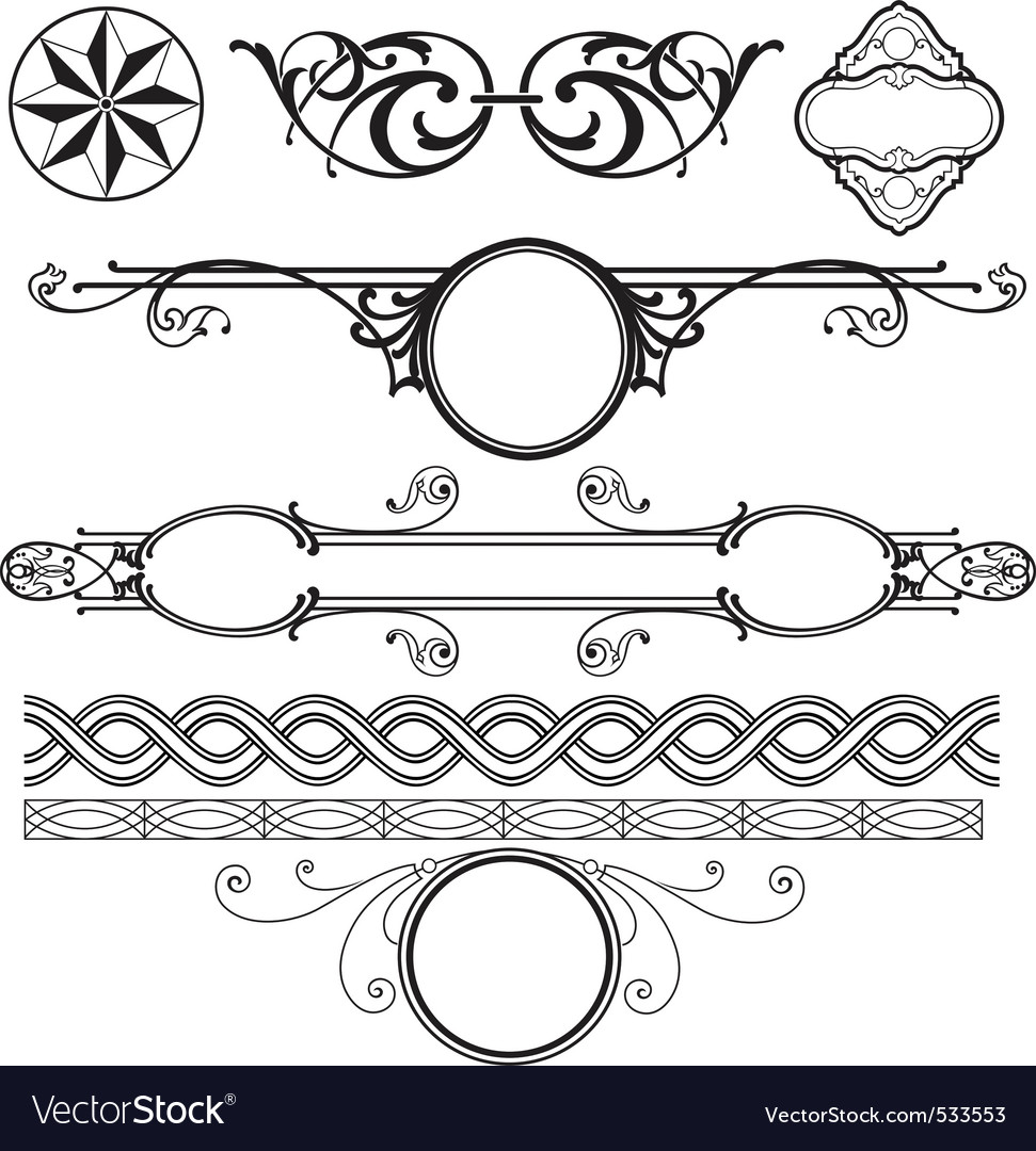 Decoration elements pack vector | Price: 1 Credit (USD $1)