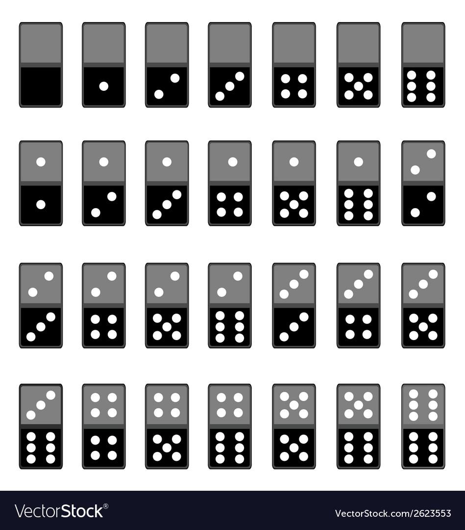 Dominoes vector | Price: 1 Credit (USD $1)
