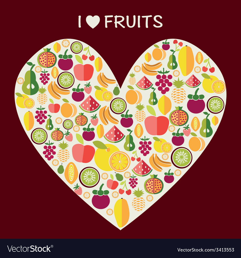 Fruits background - vector | Price: 1 Credit (USD $1)