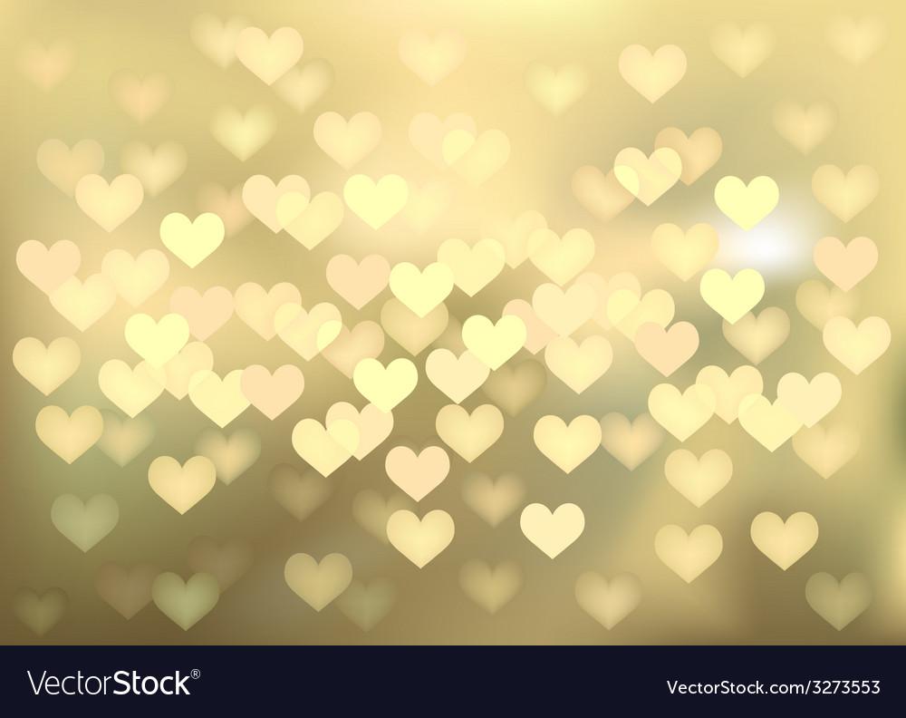 Golden festive lights in heart shape background vector | Price: 1 Credit (USD $1)