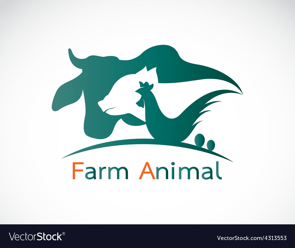 Group of animal farm label vector | Price: 1 Credit (USD $1)