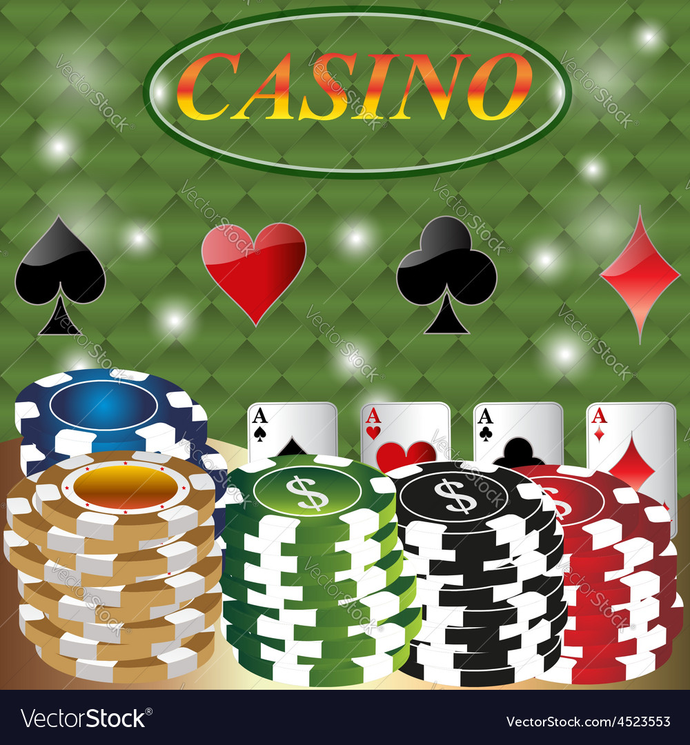 Poker casino cards background gambling the symbol vector | Price: 1 Credit (USD $1)
