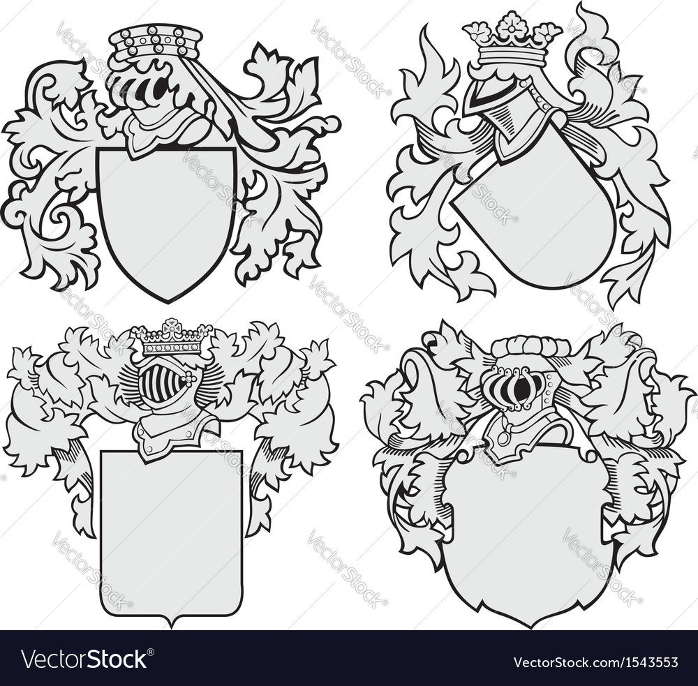 Set of aristocratic emblems no10 vector | Price: 1 Credit (USD $1)