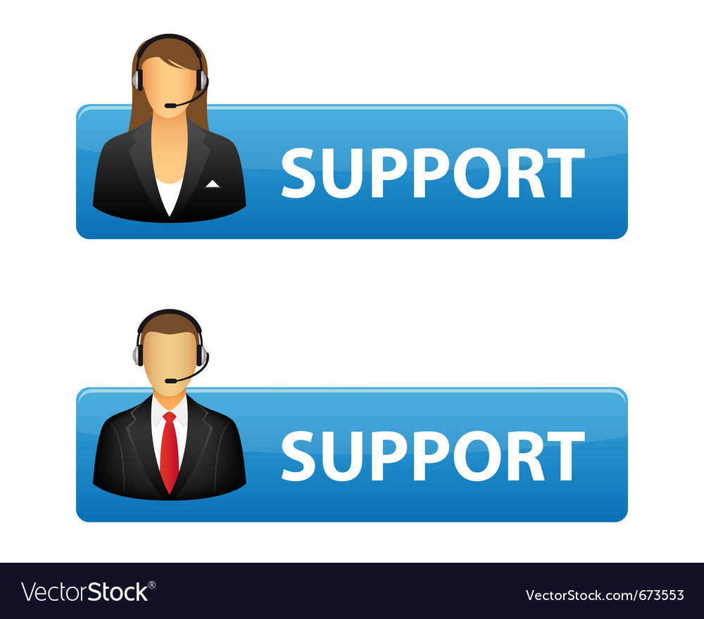 Support buttons vector | Price: 1 Credit (USD $1)