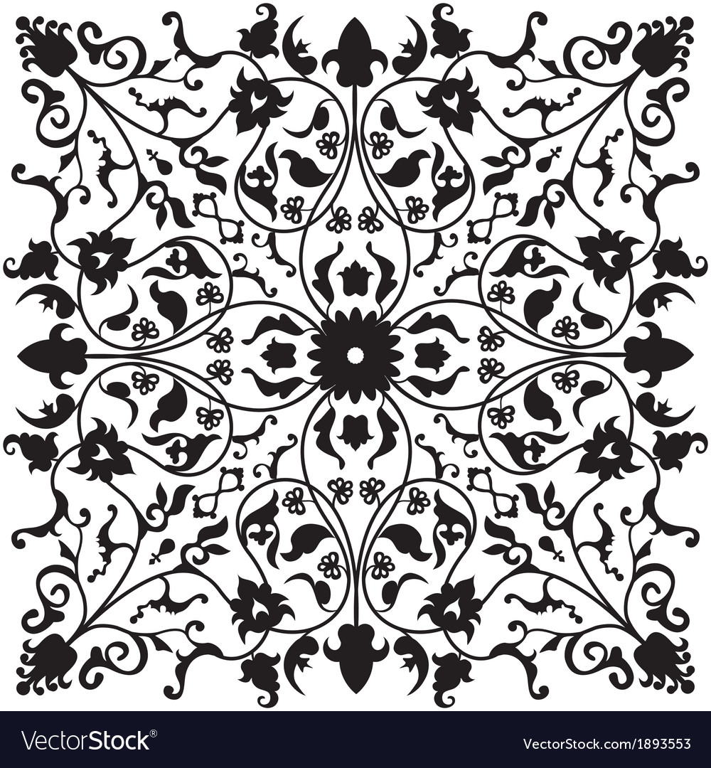 Traditional oriental floral ornament vector | Price: 1 Credit (USD $1)