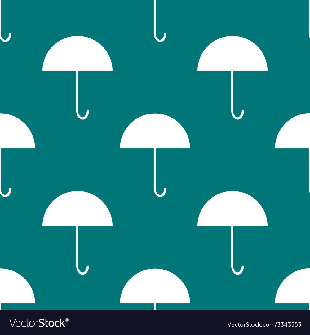 Umbrella web icon flat design seamless gray vector | Price: 1 Credit (USD $1)