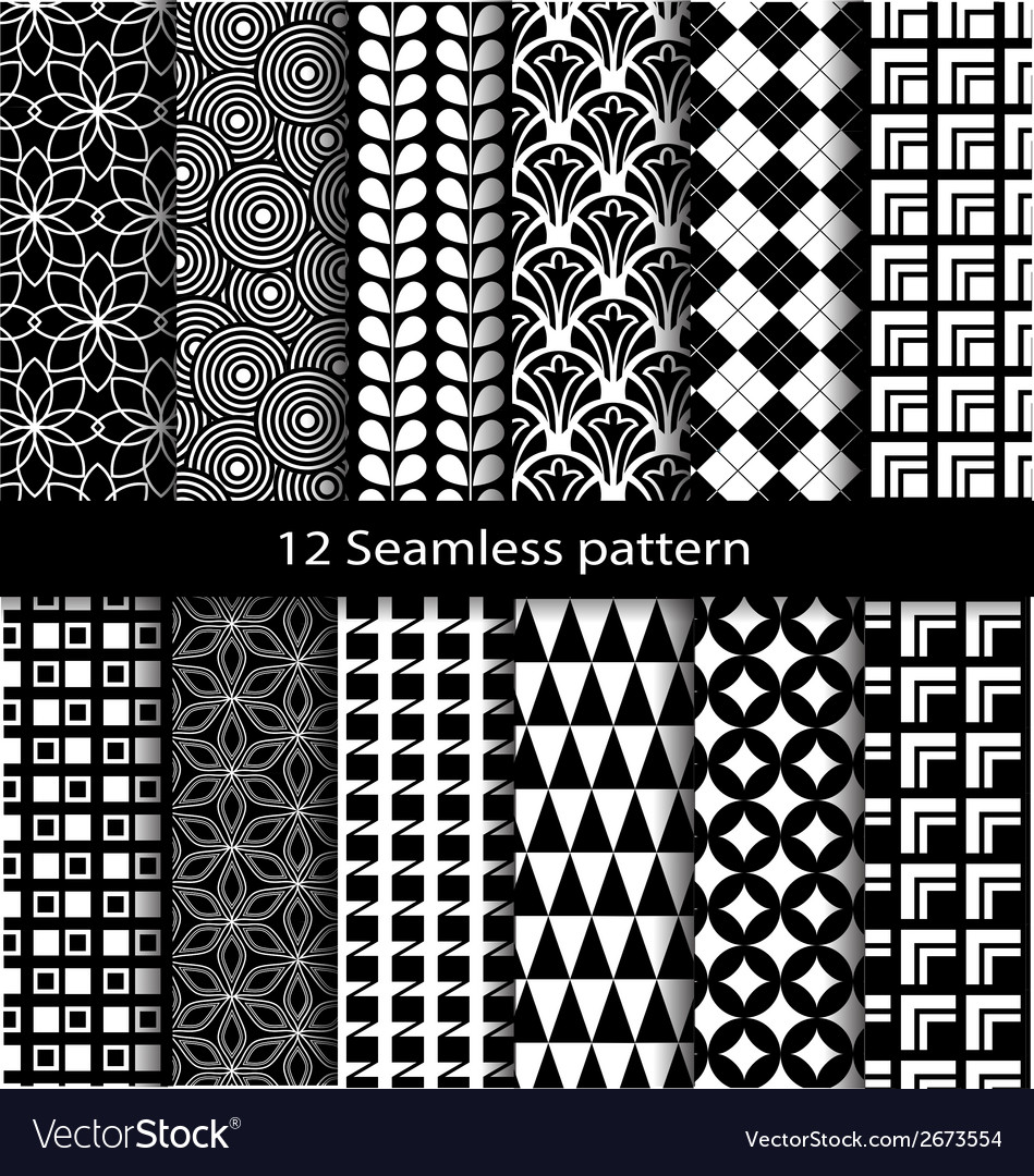 12 seamless pattern vector | Price: 1 Credit (USD $1)