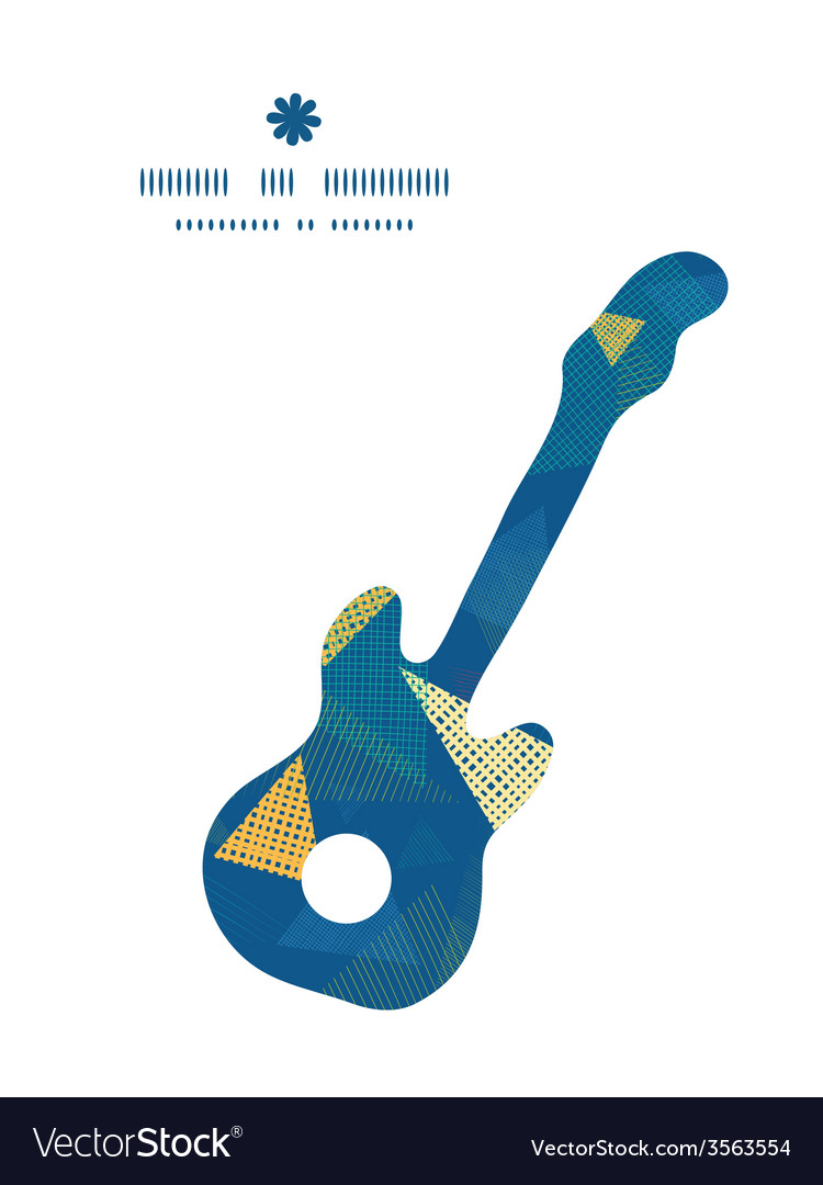 Abstract fabric triangles guitar music silhouette vector | Price: 1 Credit (USD $1)