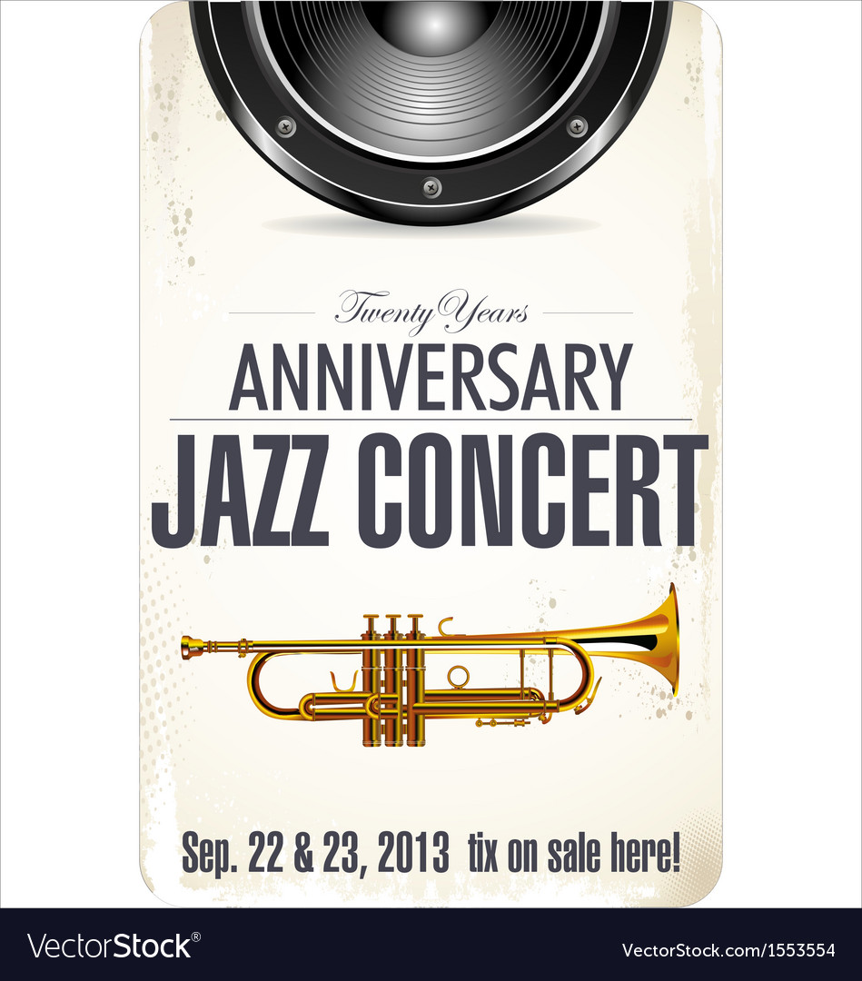 Anniversary jazz concert poster vector | Price: 1 Credit (USD $1)