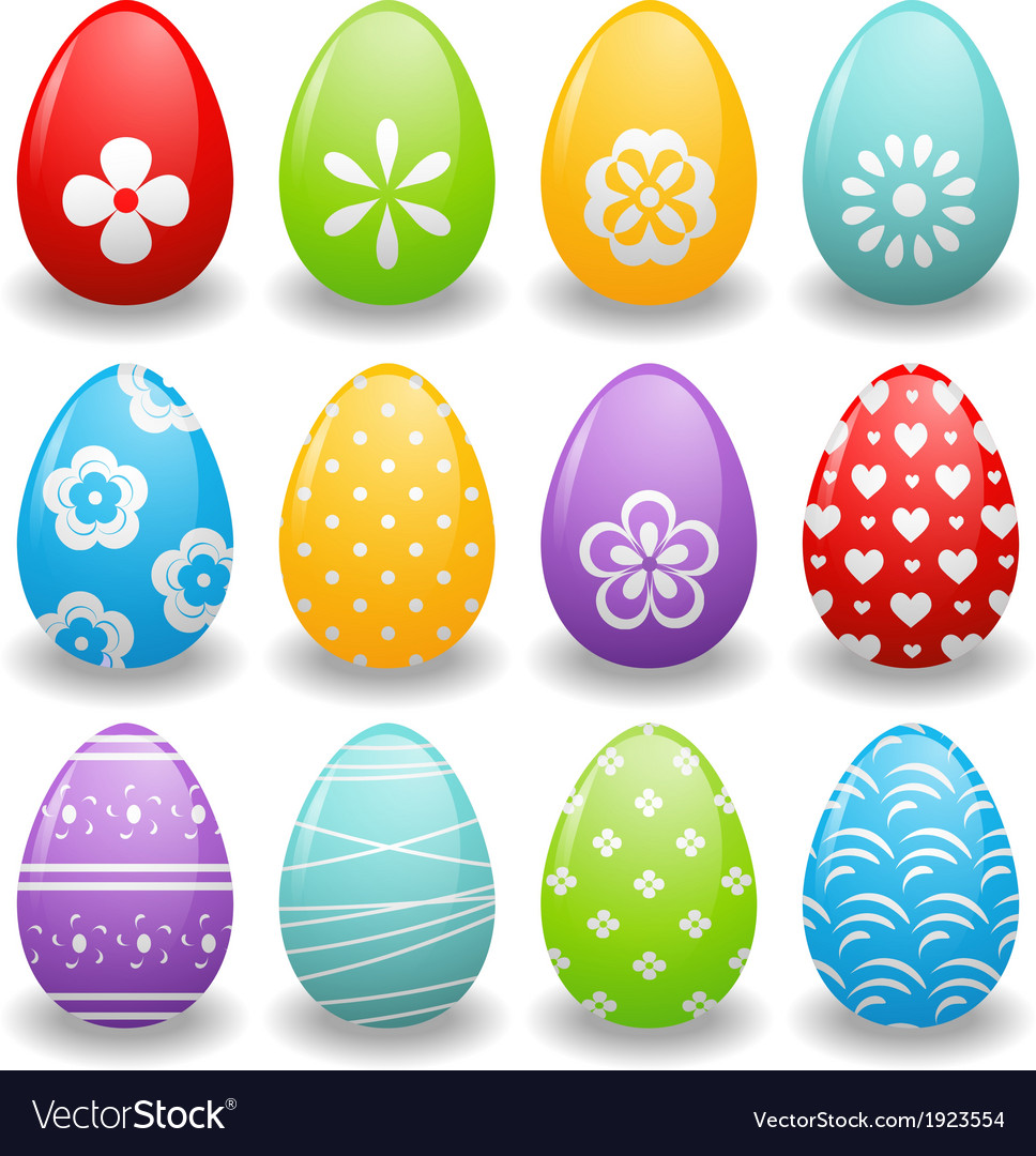 Bright easter eggs vector | Price: 1 Credit (USD $1)