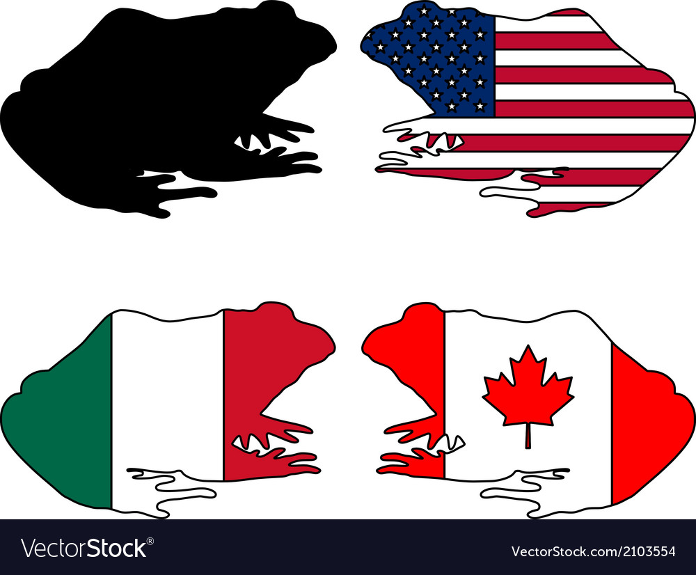 Bullfrog flags vector | Price: 1 Credit (USD $1)
