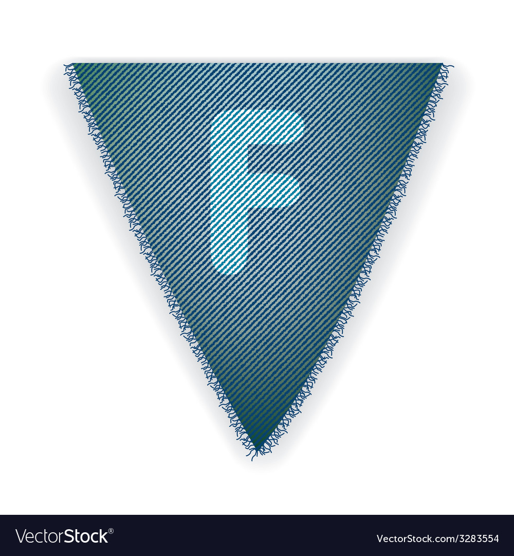 Bunting flag letter f vector | Price: 1 Credit (USD $1)