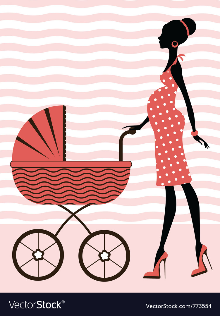 Chic pregnancy vector